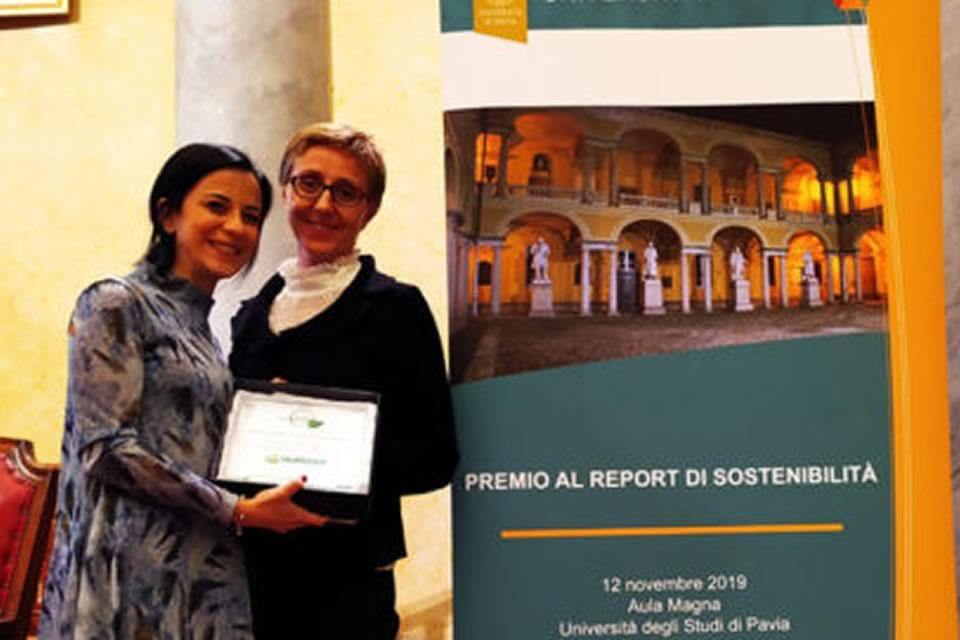 Humana Italy wins Sustainable Report award from University of Pavia