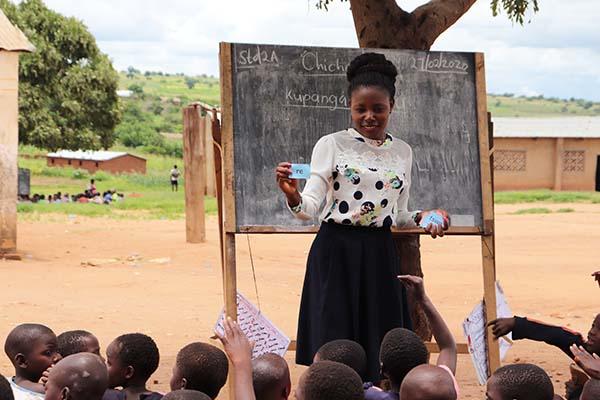 Margret Phiri involve her class inword building
