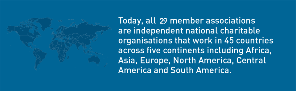 The Federation works in 45 countries across 5 continents