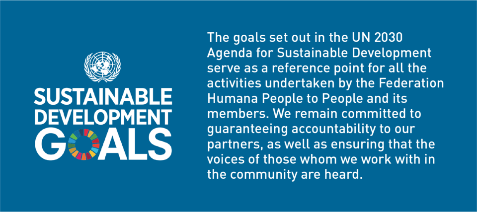 The activities of Humana People to People are aligned with the UN 2030 Agenda